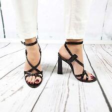 2e20cf4e9bdac Dsquared2 Women Brown Crocodile Embossed Leather Slim High Heel Dress  Sandals