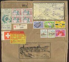 Svizzera Packet POST registra.1988 BISCOTTI ILLUSTRATO wrapper non consegnato