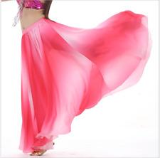 Gradient Color Silk-like Full Circle Swing Skirt Belly Dance Costumes Long Skirt