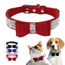 Elegant Rhinestone Cat Dog Collars Soft for Small Doggie Puppy Kitten XXS XS S M