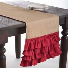 New listing Ruffle Design Jute Table Runner