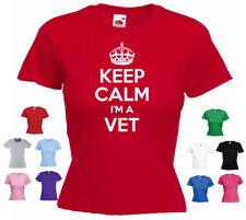 'Keep Calm I'm a Vet' Veterinarian Funny Gift Ladies T-shirt