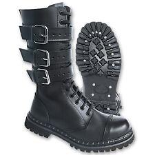 Brandit Phantom Boots 3-Buckle Black - Buckles Boots Gothic Boat Black New