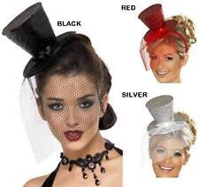 ABITO STRAVAGANTE da donna paillettes mini Top Cappello su fascia 3 colori