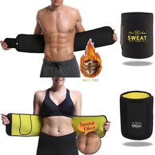 UK Men Women Sports Waist Trimmer Thermo Sauna Belt Xtreme Slim Fit Girdle Fajas