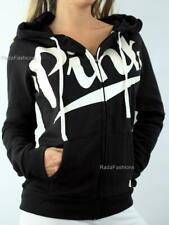 Victoria's Secret PINK Perfect Full Zip Hoodie Cursive Logo Fleece Sweatshirt