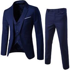 Men Business Wedding Dress One Button Slim Fit Coat Formal 3 Pcs Suit Bridegroom