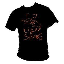 IO Amo Squali Tigre DIVE SQUALO immersioni subacquee T-shirt Da Uomo Tutte Le Taglie