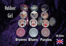 OUTDOOR GIRL makeup KIT SET eyeshadow lip gloss mirror blue brown purple RARE