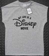 Primark Disney T Shirt MY LIFE IS A DISNEY MOVIE Ladies Sizes 6-20 NEW