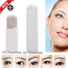 50PCS CHUSE Microblading 16U 26U Pins Tattoo Eyebrow Blades Shading Sharp Needle