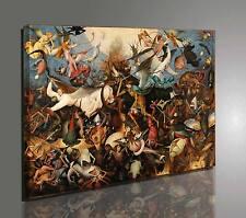Quadro Bruegel La Caduta degli Angeli Ribelli Stampa su Tela Vernice Pennellate