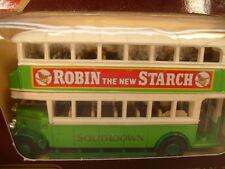 1989 MATCHBOX LESNEY YESTERYEAR Y-5 1930 LEYLAND TITAN TD1 ROBIN STARCH BUS MIB
