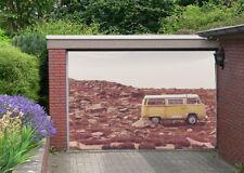 3D Baufällig Minibus Garage Tür Wand Druck Abziehbild Wand Dekor AJ WALLPAPER DE
