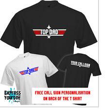 Top Dad-T shirt, fête des pères, top gun, présente, bon marché, fun, cool, quali...