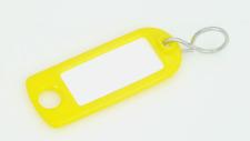 Schlüsselschilder zum Beschriften mit S-Haken, Farbe: gelb 5 - 200 Stück