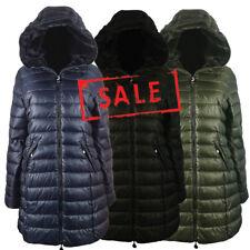 AMAVISSE UK - (RRP£35) Fashion Puffy Puffer Long Parka Jacket Coat Faux Fur Hood