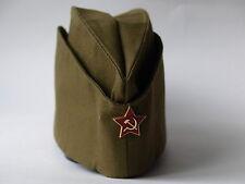 PILOTKA SOVIET ARMY GARRISON CAP WITH A RED ASTERISK SOVIET SOLDIER RUSSIAN USSR