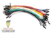 10 einzelne Jumper Wire | 20 cm | female auf female | viele Farben zur Auswahl