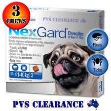 Nexgard Blue 3 for Small Dogs 4.1 - 10 kg 3-Pack Nexguard Flea & Tick Chewable