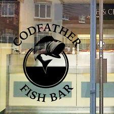 Personalizado Fish and Chip CARTEL DE TIENDA Etiqueta Engomada Ventana Wall FC5