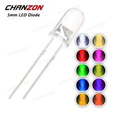 5mm LED superhell 30° 20mA Rund Ultrahell 30° Blau Rot Grün Gelb Orange Weiß UV