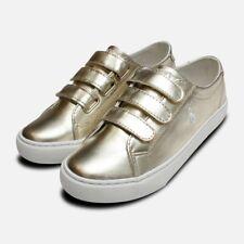 Gold Ralph Lauren Polo Slater EZ Childrens Shoes