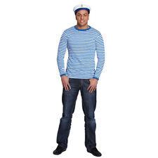 Ringelshirt, blau-weiß, langarm Matrose Seemann Zirkus Clown Matrosenhemd
