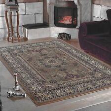 Klassiker Orient  Design Teppich Bordüre  Beige Meliert Wohnzimmer 6 Groessen