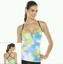 Nike Women's Size 10 Yellow Blue Racerback Tankini Swimwear Top FREE SHIP