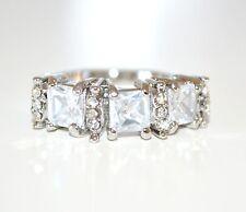 ANELLO donna argento fedina strass cristalli zirconi idea regalo s valentino E03