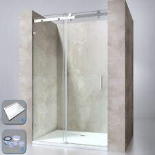 Durovin Bathroom Sliding Door Frameless Shower Enclosure Anti Slip Acrylic Tray