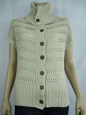 Crossroads Ladies Chunky Cowl Neck Cardigan sizes 8 12 14 16 18 22 Neutral