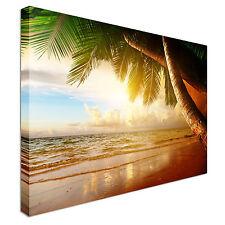 Sunrise en Lona Pared Arte Impresiones del Caribe Playa De Alta Calidad