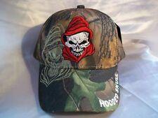 Skull Hooded Skull Camo Ball Cap Hat New Nwt HH-7