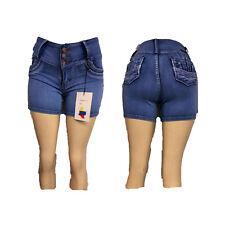 Original Levanta Cola Franka jeans push up 285 blue stretch capri jean short