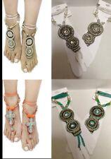Jewelry Foot Sandal Barefoot Beach Anklet Bling Orange Turquoise Ankle Bracelet