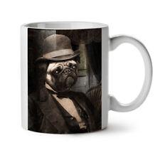 Pug Dog Dapper Gent Puppy Man NEW White Tea Coffee Mug 11 oz | Wellcoda