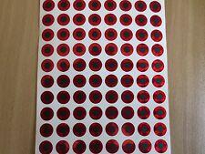 3mm 4mm 5mm 6mm 7mm 8mm 9mm 10mm 12mm Red 2D Flat Stick-On Fishing Lure Eyes