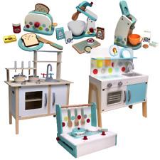 Kinderküche Holz Spielküche Topfset Toaster Kaffeemaschine Küchenmaschine Mixer