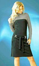 WEAR TO WORK TURTLENECK DRESS European Long Sleeve Pocket Stretch Casual Dress
