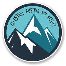 2 x Kitzbühel Austria Ski Snowboard Resort Vinyl Sticker Travel #6444