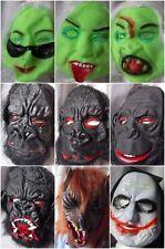 Cabeza Completa Adulto sobre Cara Máscara Halloween Elaborado Vestido Mono Gorila Para Hombre Mujer