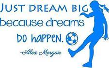 "Alex Morgan Soccer Quote | Girl's Vinyl Wall Decal / Decor - 20""x12"" [V12]"