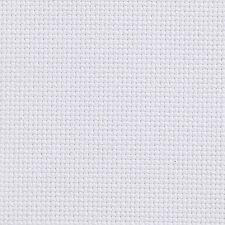 AIDA 18 COUNT WHITE CROSS STITCH FABRIC MATERIAL 100% COTTON