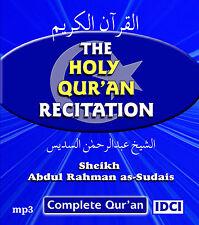 Sheikh Abdul Rahman As-Sudais Recitation Of Quran mp3 CD (QCD2)