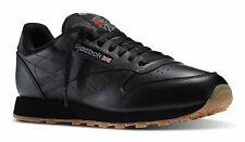 Reebok Clásico Cuero Negro, Goma Hombre Running Tenis Zapatos Artículo 49798