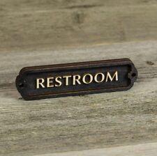 Restroom Door Sign, Office, Plaque, Vintage Style, Railway, Retro, Bathroom