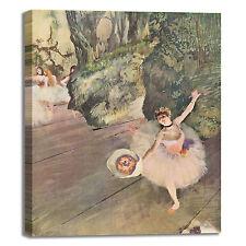 Degas ballerina con bouquet design quadro stampa tela dipinto telaio arredo casa