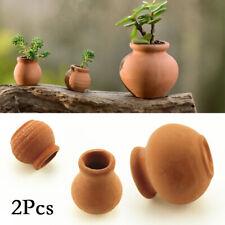 2pcs Mini Terracotta Flower Pots Clay Pottery For Succulent Plants Rose Cactus